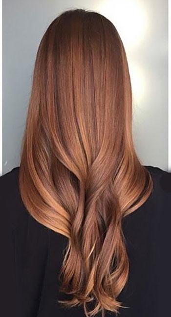 رنگ مو مسی طلایی
