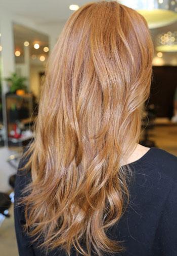 رنگ مو کهربایی