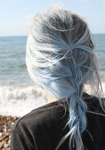 رنگ مو آبی روشن (baby blue)
