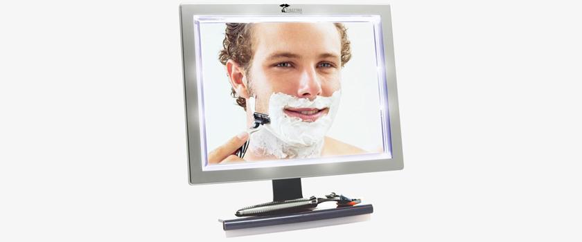 اصلاح بیدردسر با آینه LED ضد بخار