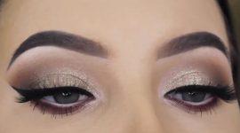 آموزش آرایش چشم با سایه براق