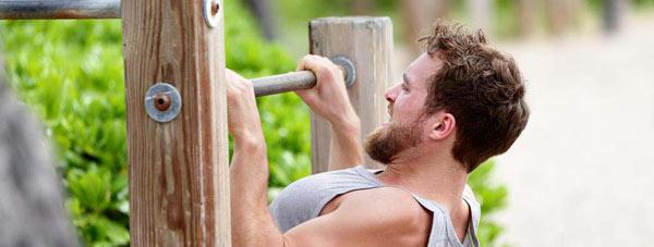 حرکت بارفیکس و کشیدن بدن به جلو یا بالا