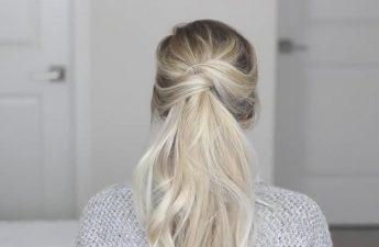 آموزش بستن موی بلند برای خانمها