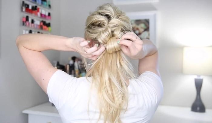 مدل موی جمع برای موهای کم پشت