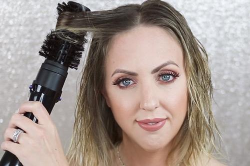 سشوار برس دار نرم برای موهای نازک