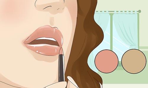 آرایش روزانه لب