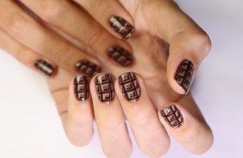 آموزش طراحی ناخن شکلاتی
