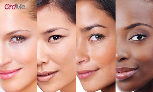 ته رنگ پوست خود را مشخص کنید.