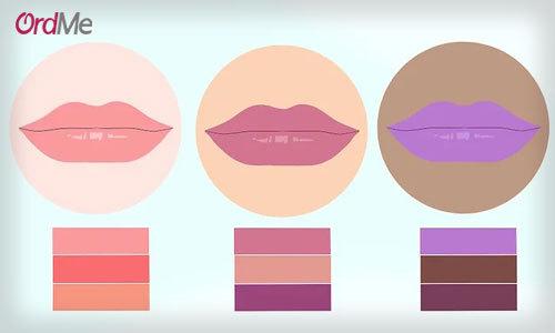 انتخاب رنگ رژ لب مناسب رنگ پوست