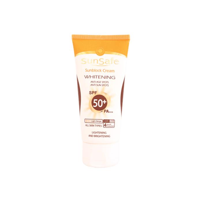 كرم ضد آفتاب و روشن كننده + SunSafe SPF 50