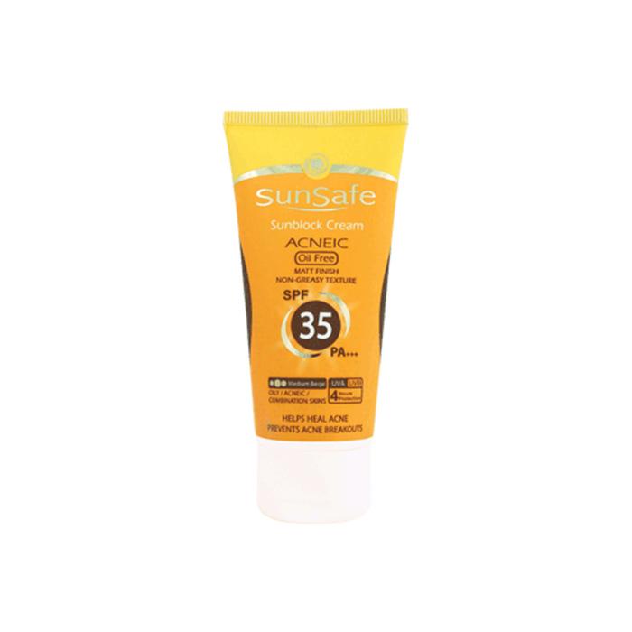 كرم ضد آفتاب آنتی آكنه SunSafe SPF 35