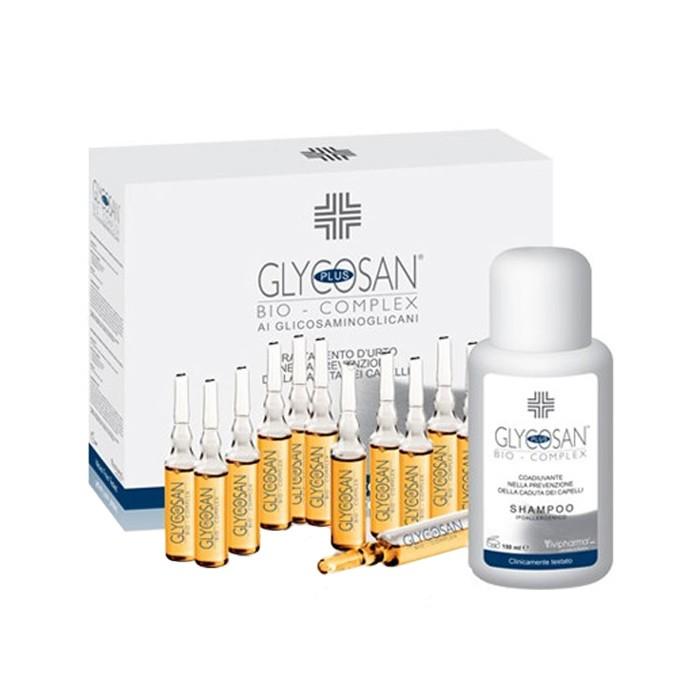 شامپو ضد ریزش و تقویتی مو + 12 لوسیون Glycosan