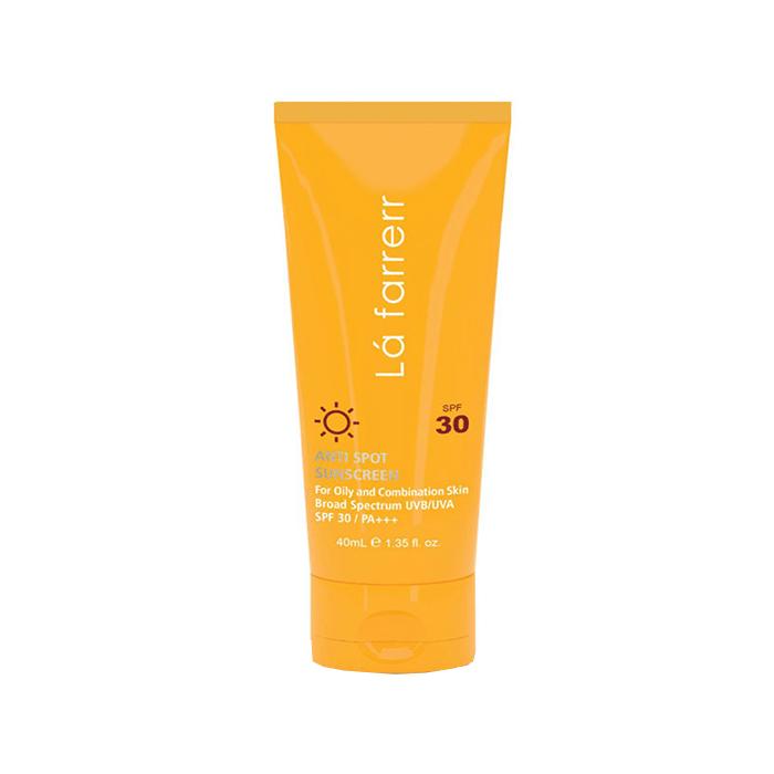 کرم ضد آفتاب و ضد لک  پوست چرب Lafarrerr SPF 30