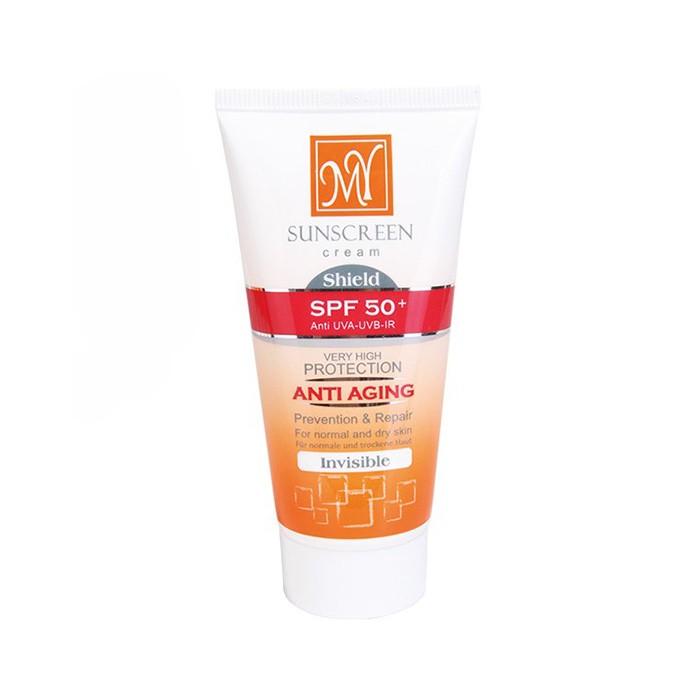 کرم ضد آفتاب و ضد چروک شیلد SPF 50 بی رنگ My