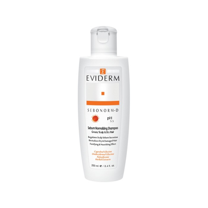 شامپو سبونورم دی مخصوص پوست چرب و موی خشک Eviderm