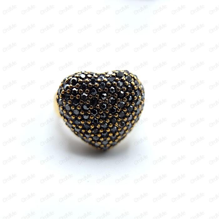 انگشتر مارکازیت قلبی طلایی Tandis 0780