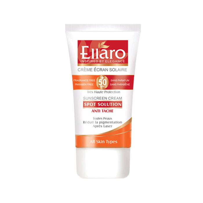 کرم ضد آفتاب ضد لک اسپات سولوشن +Ellaro SPF 50