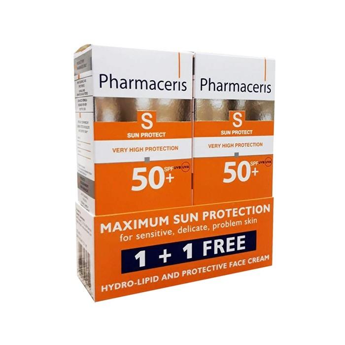 کرم ضد آفتاب دو عددی هیدرولیپید SPF50 Pharmaceris