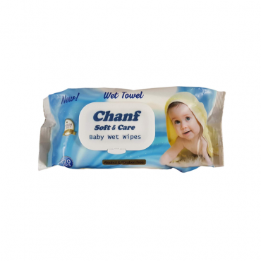 دستمال مرطوب کودک 120 برگ فلوپک Chanf