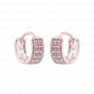 گوشواره حلقه ای سفید Xuping 3161