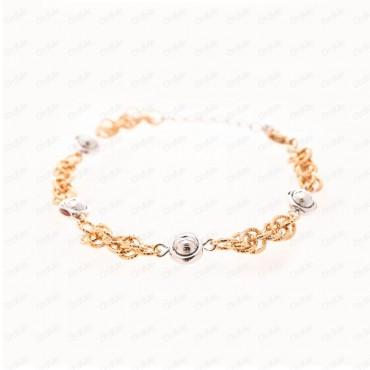 دستبند دورنگ Xuping 1256