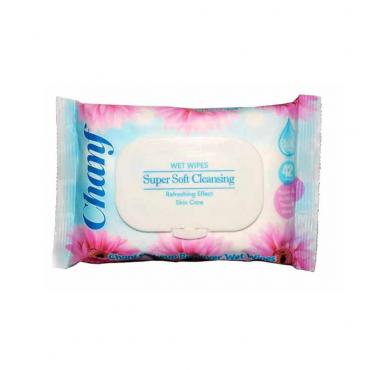 دستمال مرطوب آرایشی 42 برگ فلوپک Chanf