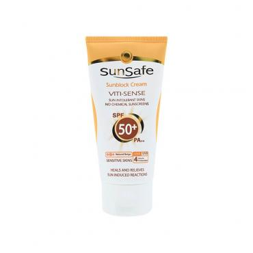 كرم ضد آفتاب فاقد جاذب های شيميايی + SunSafe SPF 50