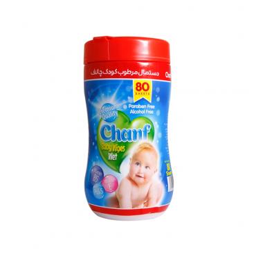 دستمال مرطوب کودک 80 برگ سیلندری Chanf