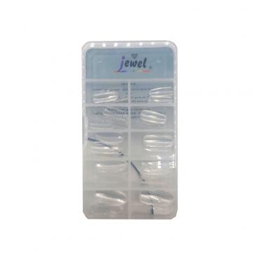 ناخن مصنوعی گرد شیشه ای 100 عددی Jewel Gn-100