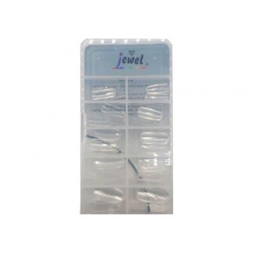 ناخن مصنوعی کله قندی شیشه ای 100 عددی Jewel GNM-100G