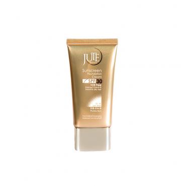 کرم پودر حاوی ضد آفتاب مناسب پوست چرب با JUTE SPF30