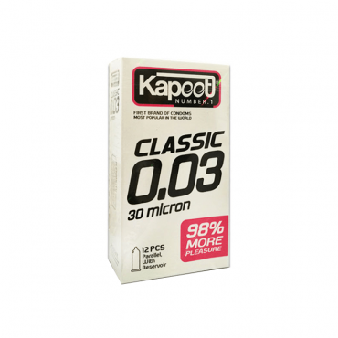 کاندوم ساده و نازک کلاسيک 30 ميکرون KAPOOT