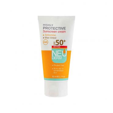کرم ضد آفتاب فاقد چربی هایلی پروتکتیو 50 NEUDERM SPF