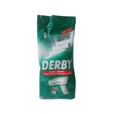 بسته 5 عددی تیغ اصلاح تک لبه Derby