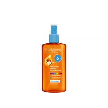 روغن آفتاب برنزه کننده بدن حاوی روغن آرگان با Bielenda SPF 6
