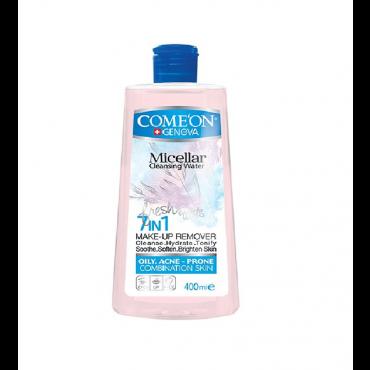 محلول میسلار واتر پاک کننده آرایش پوست چرب و جوش دار COMEON