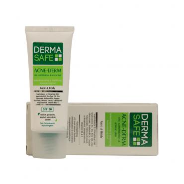 ژل مرطوب کننده فاقد چربی مناسب پوست های چرب، مختلط و دارای آکنه DERMASAFE