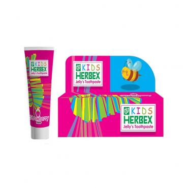خمیر دندان ژله ای کودک با طعم توت فرنگی Herbex