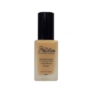 کرم ضد آفتاب با پوشش کرم پودر مناسب انواع پوست Medisun