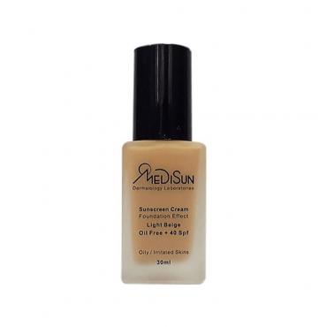 کرم ضد آفتاب با پوشش کرم پودر مناسب پوست های چرب و حساس Medisun