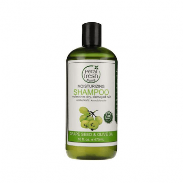 شامپو مرطوب کننده مو با عصاره هسته انگور و روغن زیتون Petal Fresh 475ml