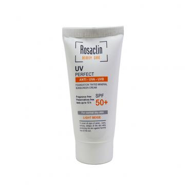 کرم ضد آفتاب پوست نرمال و خشک با Rosaclin SPF50