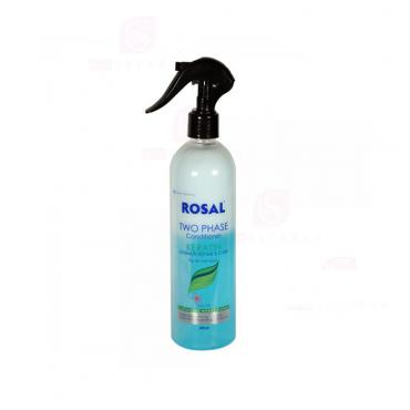 اسپری دو فاز کراتینه ترمیم کننده مناسب مو خشک و آسیب دیده ROSAL