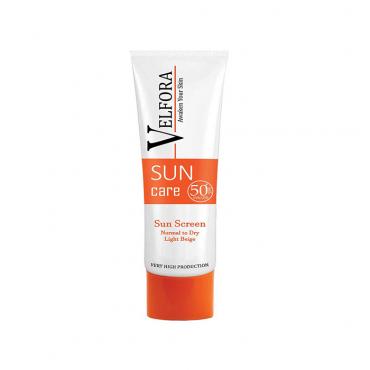 کرم ضد آفتاب پوست نرمال تا خشک با Velfora SPF50