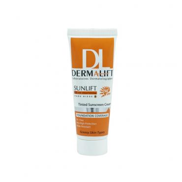 کرم ضد آفتاب رنگی پوست چرب  DERMALIFT SPF 50