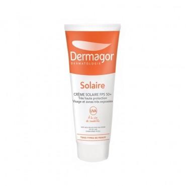 کرم ضد آفتاب بی رنگ مناسب پوست خشک تا معمولی با Dermagor SPF50