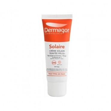 ضد آفتاب رنگی 3 در 1 فاقد چربی با Dermagor SPF50