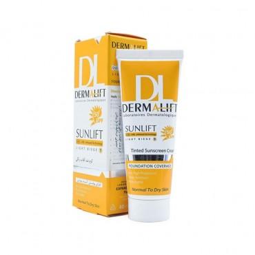 کرم ضد آفتاب رنگی پوست خشک DERMALIFT SPF 50