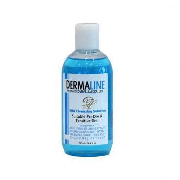 تونر پاک کننده پوست خشک Dermaline
