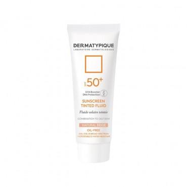 فلوئید ضد آفتاب بژ طبيعی مناسب پوست چرب Dermatypique SPF50